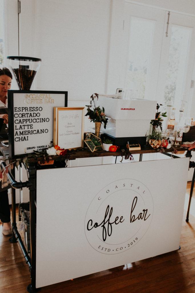 Coastal Coffee Bar Company Setup with Menu