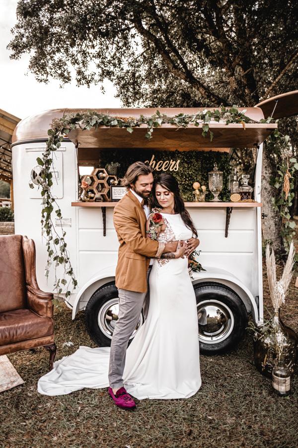 The Horse Trailer 30A Wedding Mobile Bar
