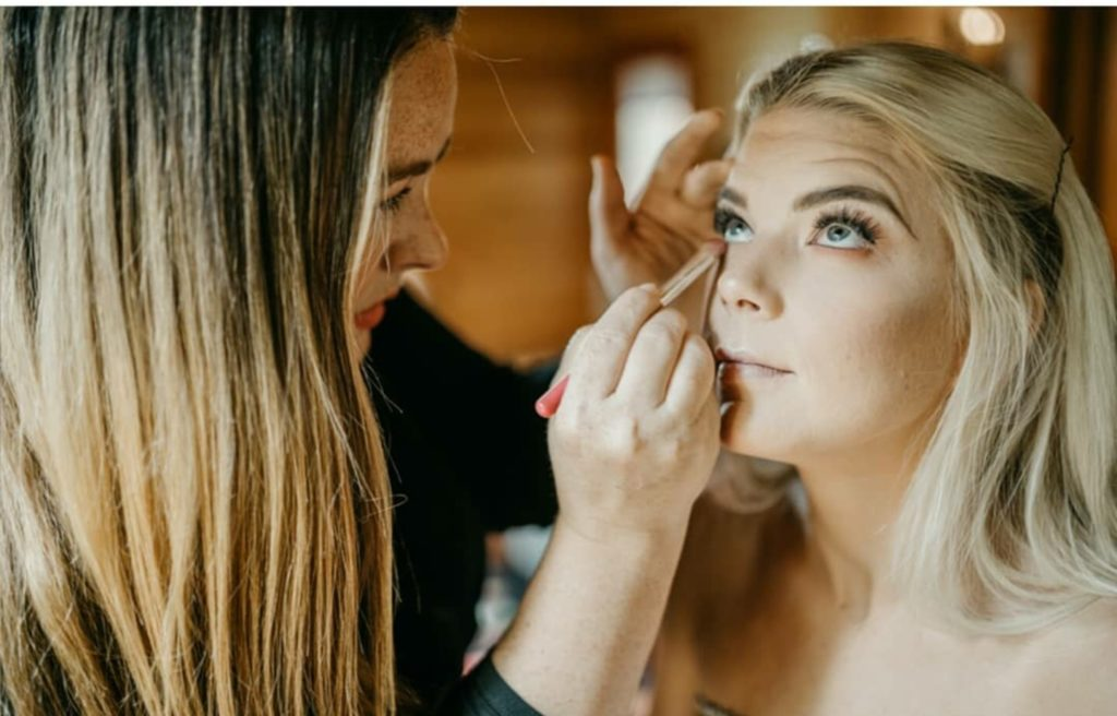 Hayley Gurney getting ready for a styled shoot