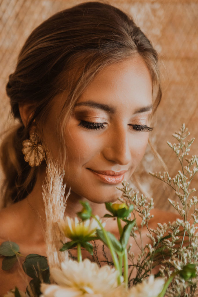 Bride in styled shoot