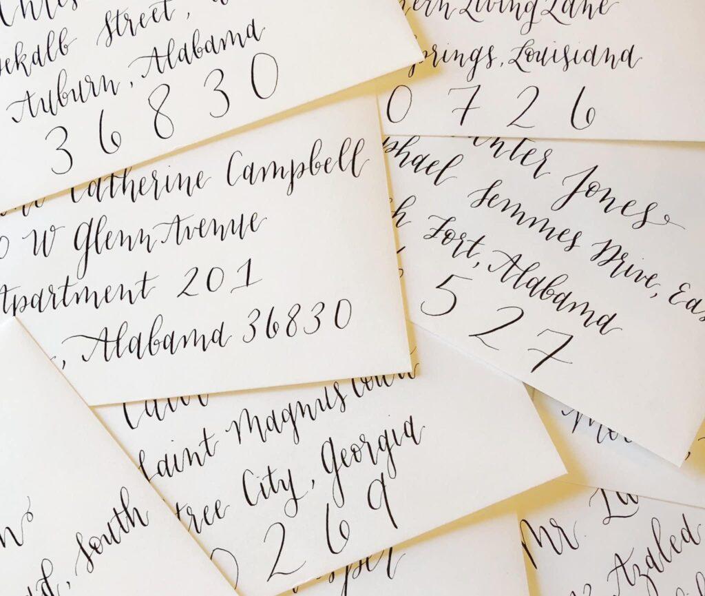 Wedding Calligraphy Envelopes