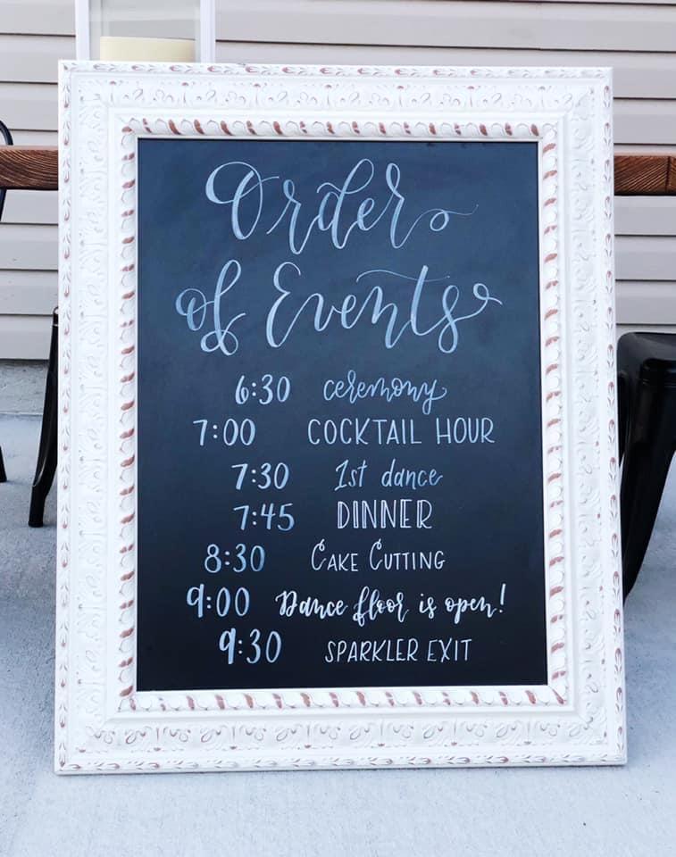 Wedding Calligraphy Timeline